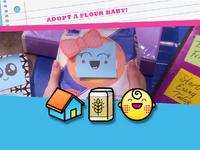 Flour baby emoticon