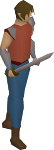 Wooden sword equipped