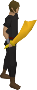 Gilded scimitar equipped