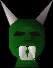 Green halloween mask detail
