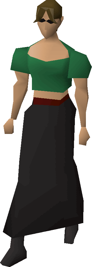Long narrow skirt