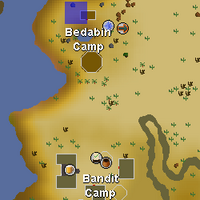 Hot cold clue - Bedabin Camp map