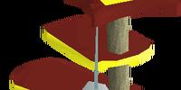 Mahogany scratching post