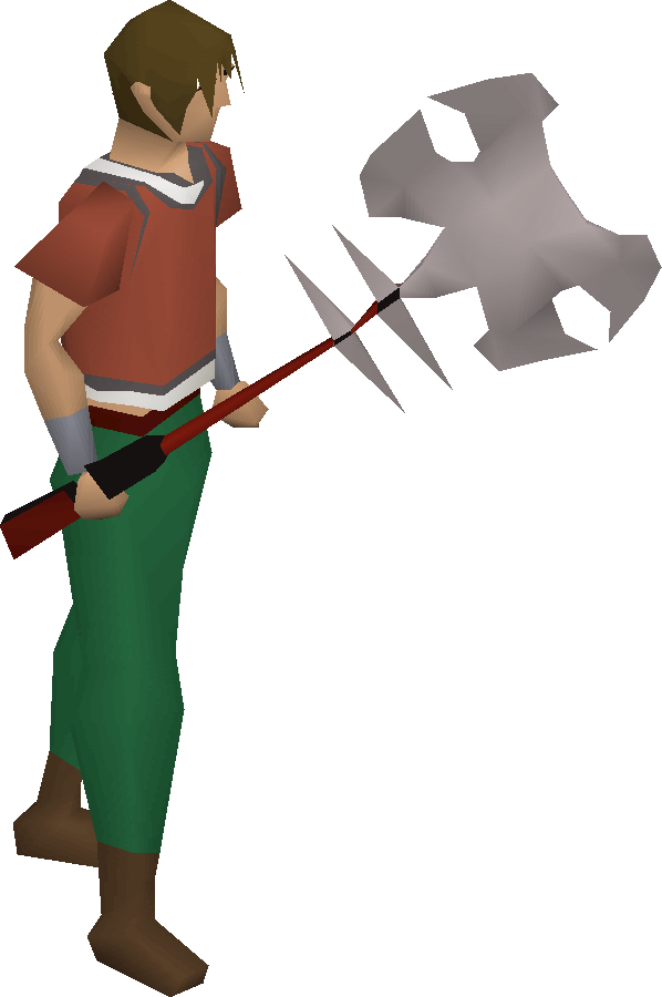 Anger battleaxe equipped