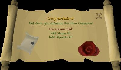 Ghoul Champion reward