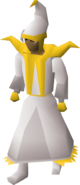 Light mystic robes equipped