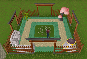 Superior garden 2007scape wiki fandom powered by wikia for Garden pool osrs