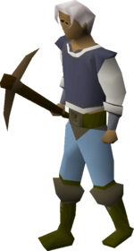 Bronze pickaxe equipped