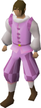 Pink elegant clothing (male) equipped