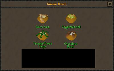 Gnome bowl preparing interface