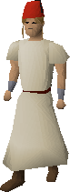 Desert outfit (plain) equipped