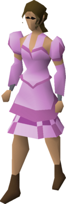 Pink elegant clothing (female) equipped