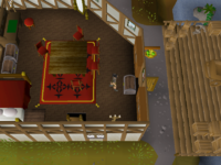 Cryptic clue - search chest wydin upstairs