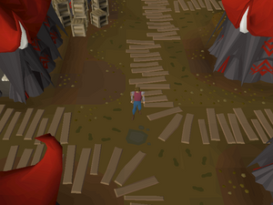 Hot cold clue - southeast of Shayzien bank