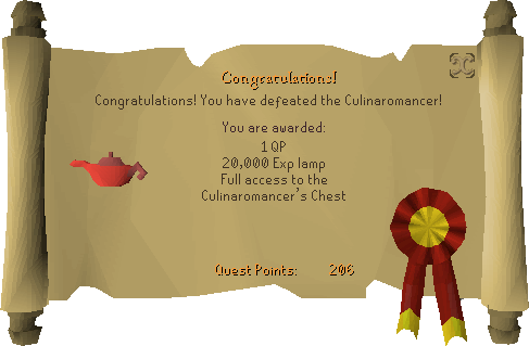 Recipe for Disaster (Defeating the Culinaromancer) reward scroll