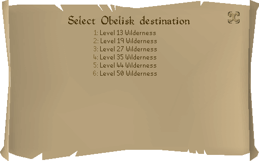 Wilderness Obelisk interface