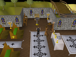 Emote clue - cheer entrana church