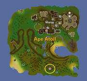 Ape Atoll Dungeon Location