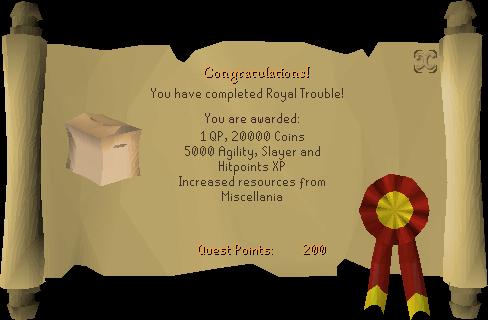 Royal Trouble reward scroll
