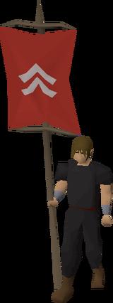 Banner (Kandarin) equipped