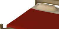 Large teak bed