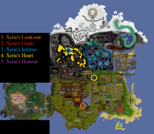Xeric's talisman locations