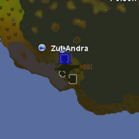 Hot cold clue - Zul-Andra map