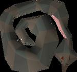 Raw stuffed snake detail