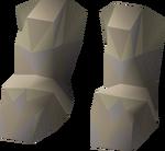 Bandos d'hide boots detail