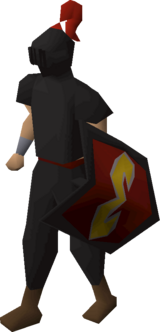 Heraldic helm (Zamorak) equipped