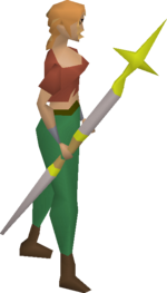Saradomin staff equipped