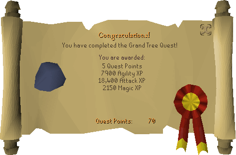 The Grand Tree reward scroll