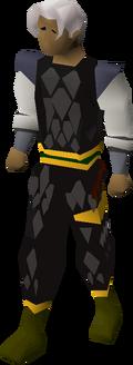 Black d'hide (g) set equipped