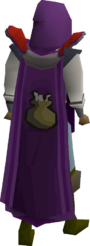 Cooking cape equipped