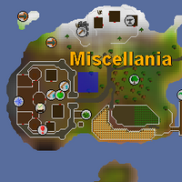 Hot cold clue - Miscellania map