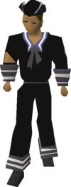Black naval set equipped