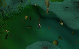 Hot cold clue - The Hollows bridge