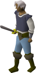 Steel sword equipped