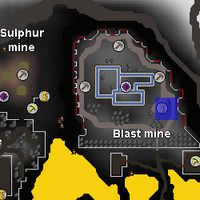 Hot cold clue - blast mine bank chest map