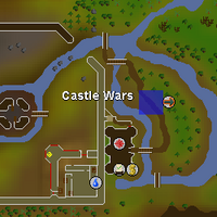 Hot cold clue - near castle wars map