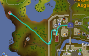 Killing blue dragons map