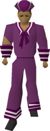 Purple naval set equipped