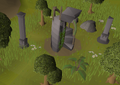 Kourend Woodland mysterious staircase.png