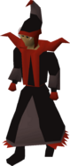 Dark mystic robes equipped
