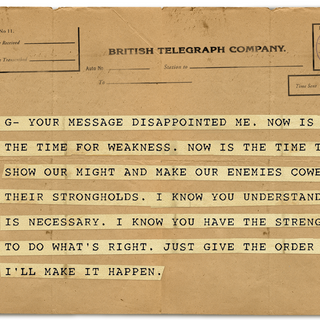 Nathaniel's Telegram to Grace