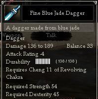 Fine Blue Jade Dagger