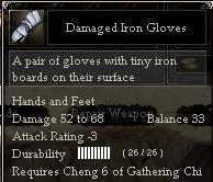 Damaged Iron Gloves
