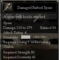 Damaged Barbed Spear