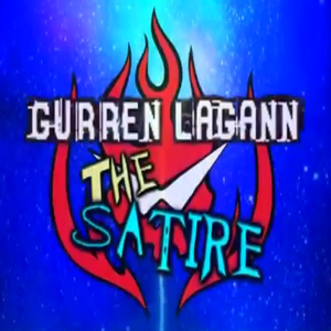 Gurren Lagann satire title block