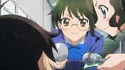 Haruyuki being interviewed